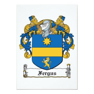 Escudo de la familia de Fergus Invitación 12,7 X 17,8 Cm