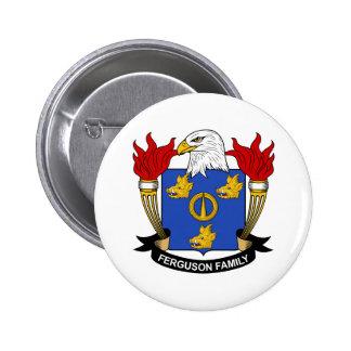 Escudo de la familia de Ferguson Pin Redondo De 2 Pulgadas