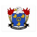 Escudo de la familia de Ferguson Postal