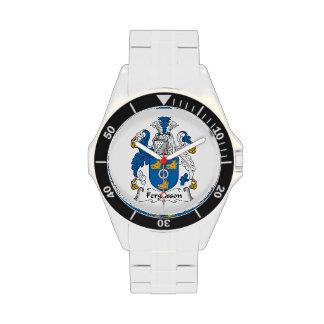 Escudo de la familia de Fergusson Relojes