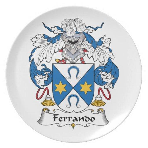 Escudo de la familia de Ferrando Platos Para Fiestas