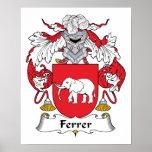 Escudo de la familia de Ferrer Posters