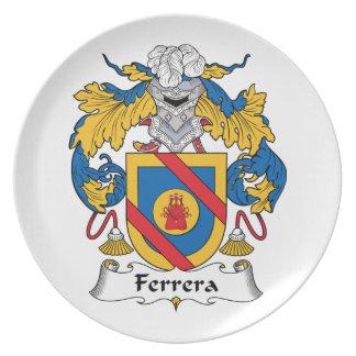 Escudo de la familia de Ferrera Platos De Comidas