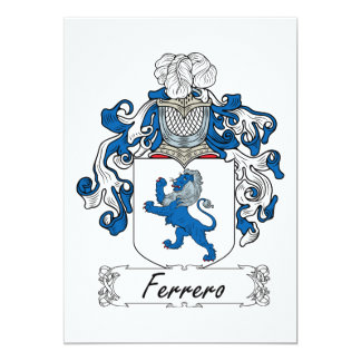 """Escudo de la familia de Ferrero Invitación 5"""" X 7"""""""