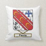 Escudo de la familia de Ferris Cojines