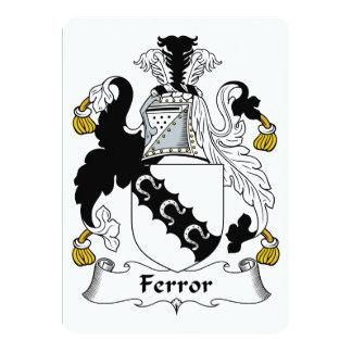 """Escudo de la familia de Ferror Invitación 5"""" X 7"""""""