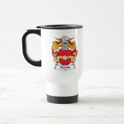 Escudo de la familia de Ferrus Tazas De Café