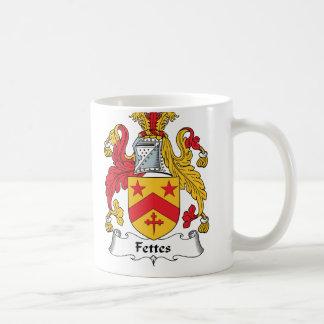 Escudo de la familia de Fettes Taza