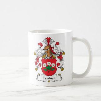 Escudo de la familia de Feulner Tazas De Café