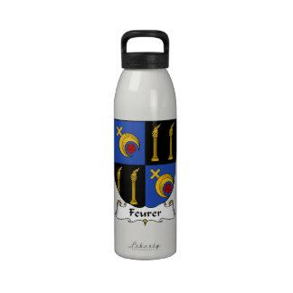 Escudo de la familia de Feurer Botellas De Agua Reutilizables
