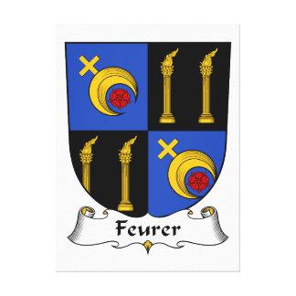Escudo de la familia de Feurer Lona Envuelta Para Galerías