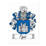 Escudo de la familia de Figini Postales