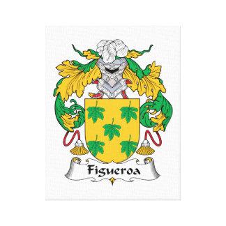 Escudo de la familia de Figueroa Impresión En Lienzo Estirada