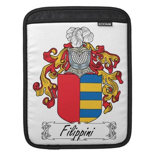 Escudo de la familia de Filippini Funda Para iPads