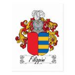 Escudo de la familia de Filippini Tarjeta Postal