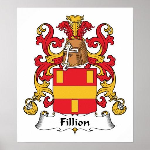Escudo de la familia de Fillion Póster