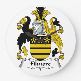 Escudo de la familia de Filmore Reloj Redondo Grande