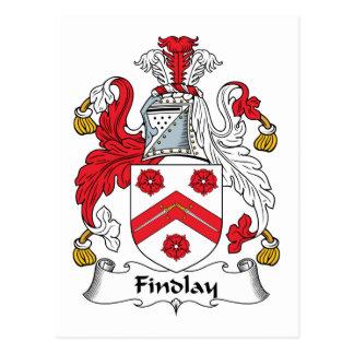Escudo de la familia de Findlay Tarjetas Postales
