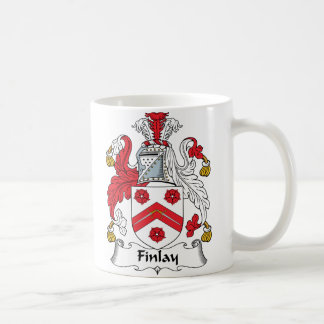 Escudo de la familia de Finlay Taza Clásica