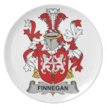Escudo de la familia de Finnegan Platos De Comidas