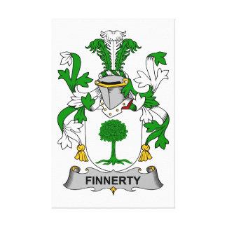 Escudo de la familia de Finnerty Impresion De Lienzo
