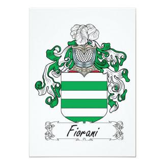"""Escudo de la familia de Fiorani Invitación 5"""" X 7"""""""