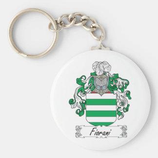 Escudo de la familia de Fiorani Llavero Redondo Tipo Pin