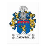 Escudo de la familia de Fioravanti Postal