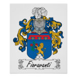 Escudo de la familia de Fioravanti Poster