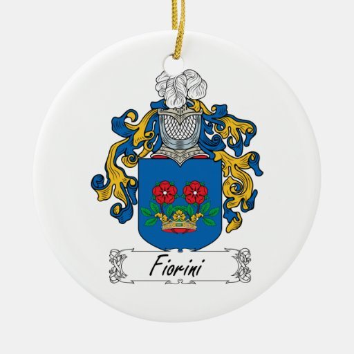 Escudo de la familia de Fiorini Adorno Redondo De Cerámica