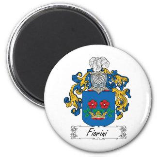 Escudo de la familia de Fiorini Imán Redondo 5 Cm