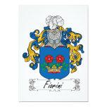 Escudo de la familia de Fiorini Invitaciones Personales