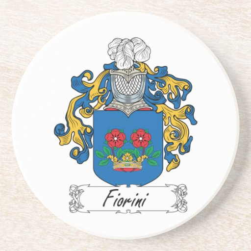 Escudo de la familia de Fiorini Posavasos Manualidades