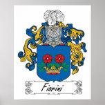 Escudo de la familia de Fiorini Poster