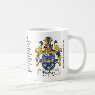 Escudo de la familia de Fischer en una taza