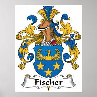 Escudo de la familia de Fischer Poster