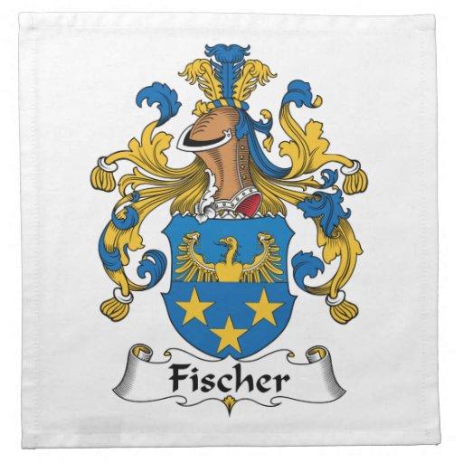 Escudo de la familia de Fischer Servilletas Imprimidas