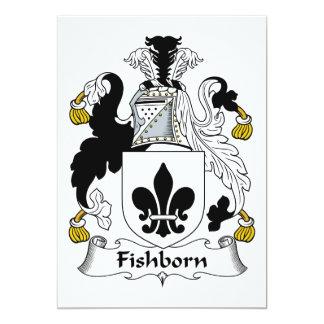 """Escudo de la familia de Fishborn Invitación 5"""" X 7"""""""