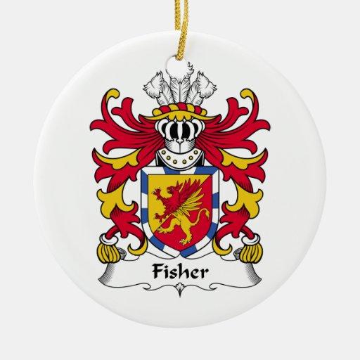 Escudo de la familia de Fisher Adornos De Navidad