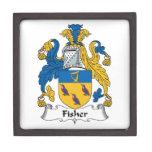 Escudo de la familia de Fisher Cajas De Joyas De Calidad