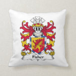 Escudo de la familia de Fisher Cojines