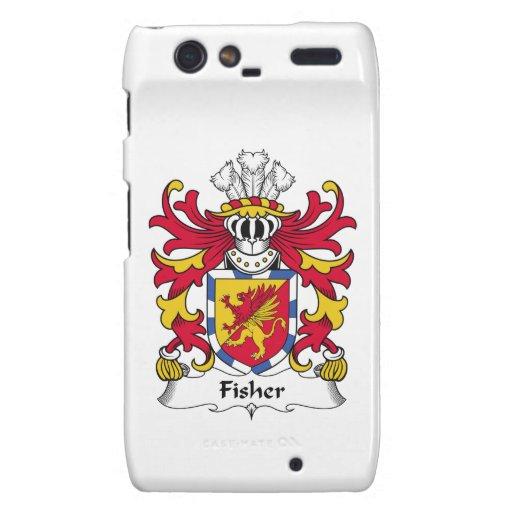 Escudo de la familia de Fisher Motorola Droid RAZR Funda