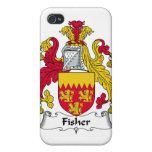 Escudo de la familia de Fisher iPhone 4 Protectores
