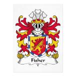 Escudo de la familia de Fisher Invitaciones Personalizada