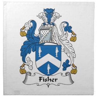 Escudo de la familia de Fisher Servilleta De Papel