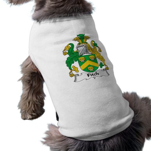Escudo de la familia de Fitch Playera Sin Mangas Para Perro