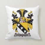 Escudo de la familia de Fitinghoff Almohadas