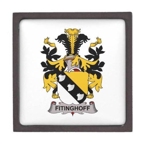 Escudo de la familia de Fitinghoff Cajas De Joyas De Calidad