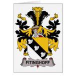 Escudo de la familia de Fitinghoff Felicitacion