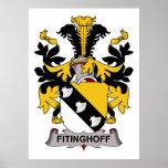Escudo de la familia de Fitinghoff Posters
